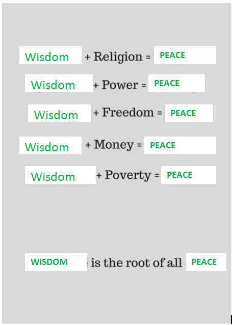 wisdom is peace