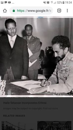 Idris Mohammed Adem with Haile Selassie