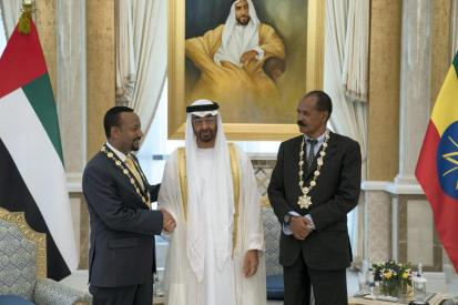 Issaias and abiy in Qatar