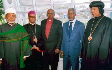 UN SECRETARY-GENERAL KOFI ANNAN WITH ERITREAN RELIGIOUS LEADERS