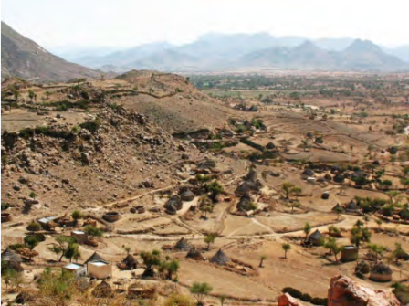 Megarih Village, the historical village of Bilen people