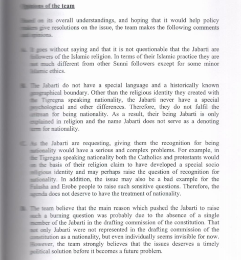 Concluding remarks of Jeberti case 1987