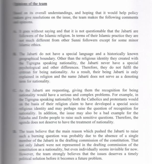 Concluding remarks of Jeberti case 1987